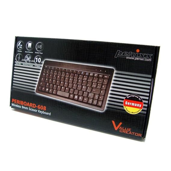 Teclado Perixx 303. Ultra Plano. USB+PS2. Negro.