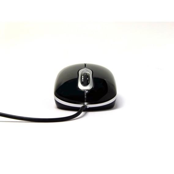 Ratón Láser Perixx 306. USB. Blanco y Plata.