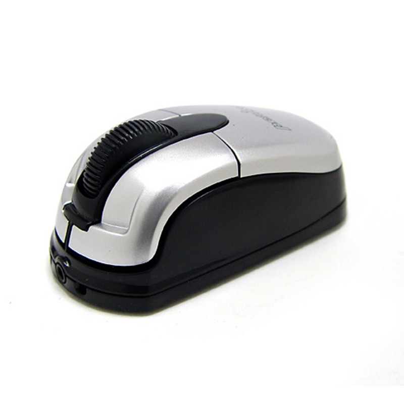Ratón óptico Perixx 403. Mini. USB. Negro y Plata.
