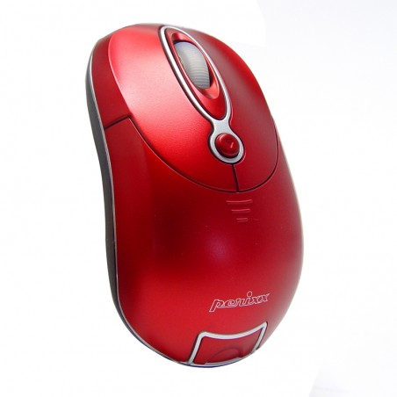 Ratón óptico Perixx 602. Mini. Wireless. Rojo.