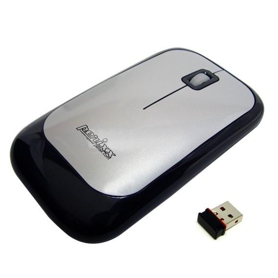 Ratón óptico Perixx 708. Wireless. Negro y Plata.