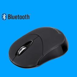 PERIMICE-802 Ratón Bluetooth. Negro mate .  Vista lateral izquierdo