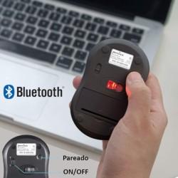PERIMICE-802  Ratón Bluetooth. Negro mate. Conectividad y sincronización