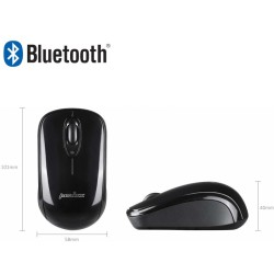 PERIMICE-803 Ratón Bluetooth Negro brillo. Dimensiones