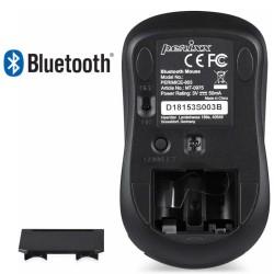 PERIMICE-803 Ratón Bluetooth Negro brillo.  Reverso, base del ratón