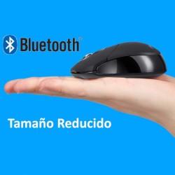 PERIMICE-802 Ratón Bluetooth. Negro mate. Idea del tamaño