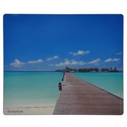 Alfombrilla para ratón de Nova. Serie Evasión.  Foto Maldivas