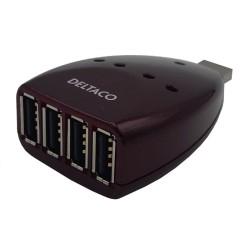 Hub USB 4 puertos Burdeos. 4 salidas Tipo A