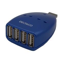 Hub USB 4 puertos Azul. 4 salidas Tipo A