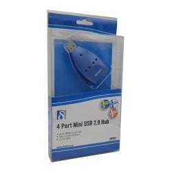Hub USB 4 puertos Azul. Embalaje