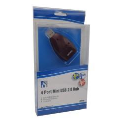 Hub USB 4 puertos Burdeos. Embalaje