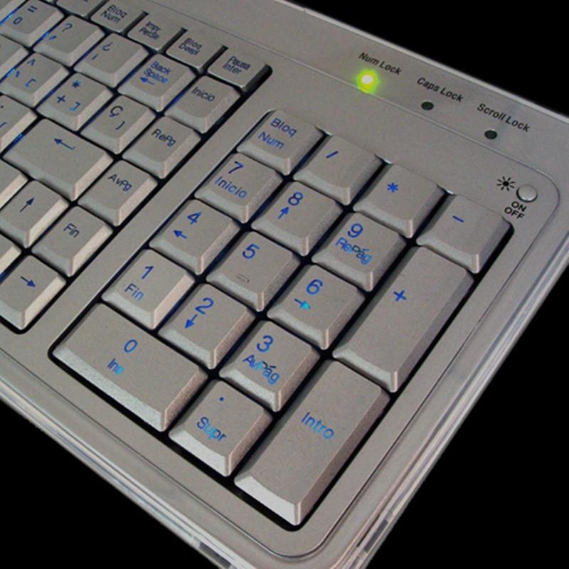 PERIBOARD-306  Teclado  detalle teclas iluminadas