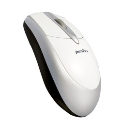PERIMICE-201 Ratón óptico blanco/plata/negro