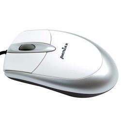 PERIMICE-201 Ratón óptico básico blanco/plata/negro