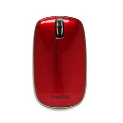 PERIMICE-210. Ratón Rojo metalizado. Vista frontal