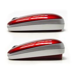 PERIMICE-210. Ratón Rojo metalizado. Altura ajustable