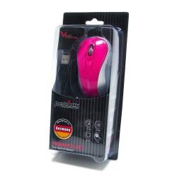 PERIMICE-401 Ratón Mini.  Rosa/Plata/Gris. Embalaje