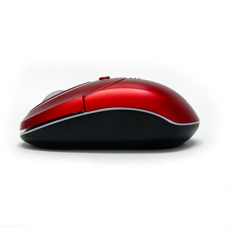 PERIMICE-602 Ratón Mini.  Wireless. Rojo. Perfil