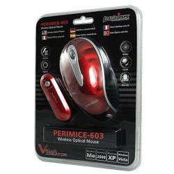 PERIMICE-603 Ratón Wireless. Rojo 3D. Embalaje