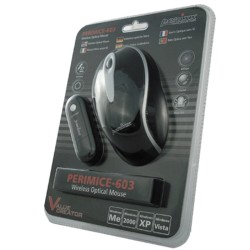 PERIMICE-603 Ratón Wireless. Negro cristal. Embalaje