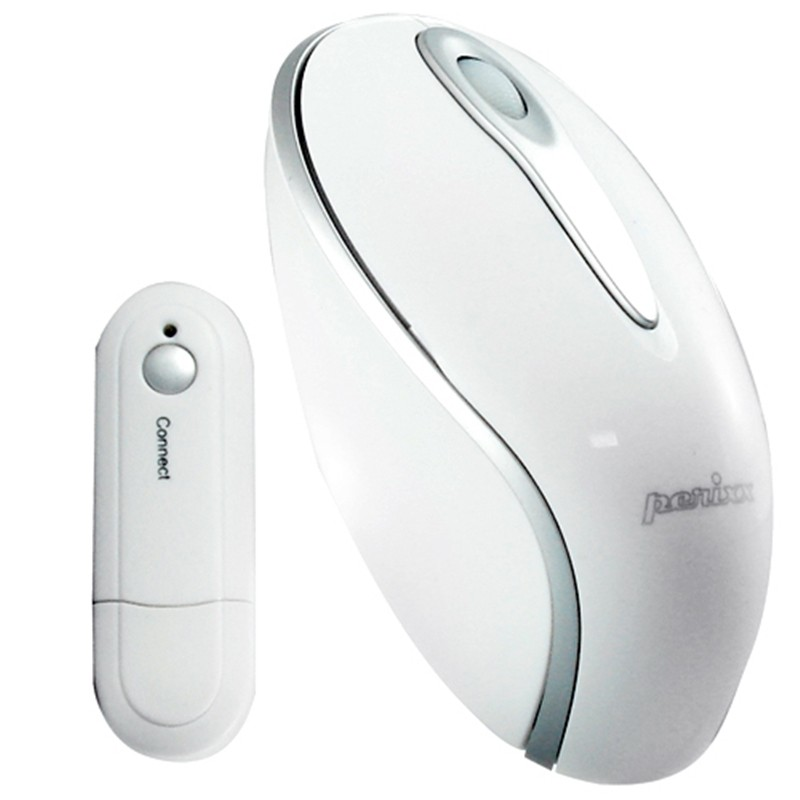 PERIMICE-603 Ratón Wireless. Blanco cristal