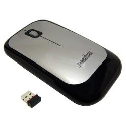 PERIMICE-704 Ratón wireless Negro. Vista lateral izquierda