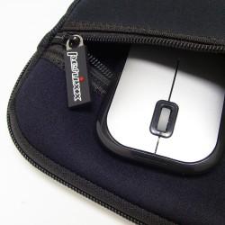 """PERIMICE-704 Ratón wireless Negro.  con funda de 10"""""""