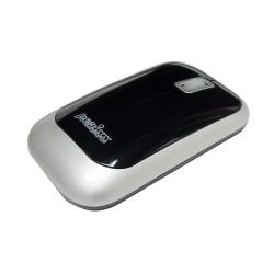 PERIMICE-706 Ratón wireless Negro. Vista lateral izquierda