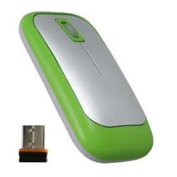 PERIMICE-706 Ratón wireless Verde + Nano Receptor.