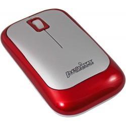 PERIMICE-706 Ratón wireless  Rojo metal y Plata. Lateral izquierdo detalle