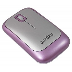 PERIMICE-706 Ratón wireless  Violeta  y Plata. Lateral izquierdo
