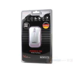 PERIMICE-706 Ratón wireless  Violeta  y Plata. Embalaje