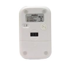 PERIMICE-706 Ratón wireless  Blanco brillo y Plata. Reverso