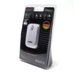 PERIMICE-706 Ratón wireless  Blanco brillo y Plata. Embalaje