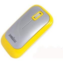 PERIMICE-706 Ratón wireless  Amarillo y Plata. Lateral derecho