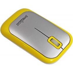 PERIMICE-706 Ratón wireless  Amarillo y Plata. Detalle botones + Scroll