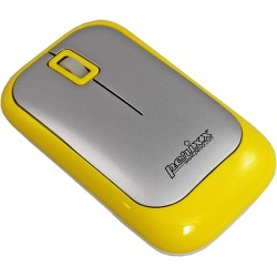 PERIMICE-706 Ratón wireless  Amarillo y Plata. Lateral izquierdo