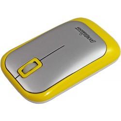 PERIMICE-706 Ratón wireless  Amarillo y Plata. Detalle