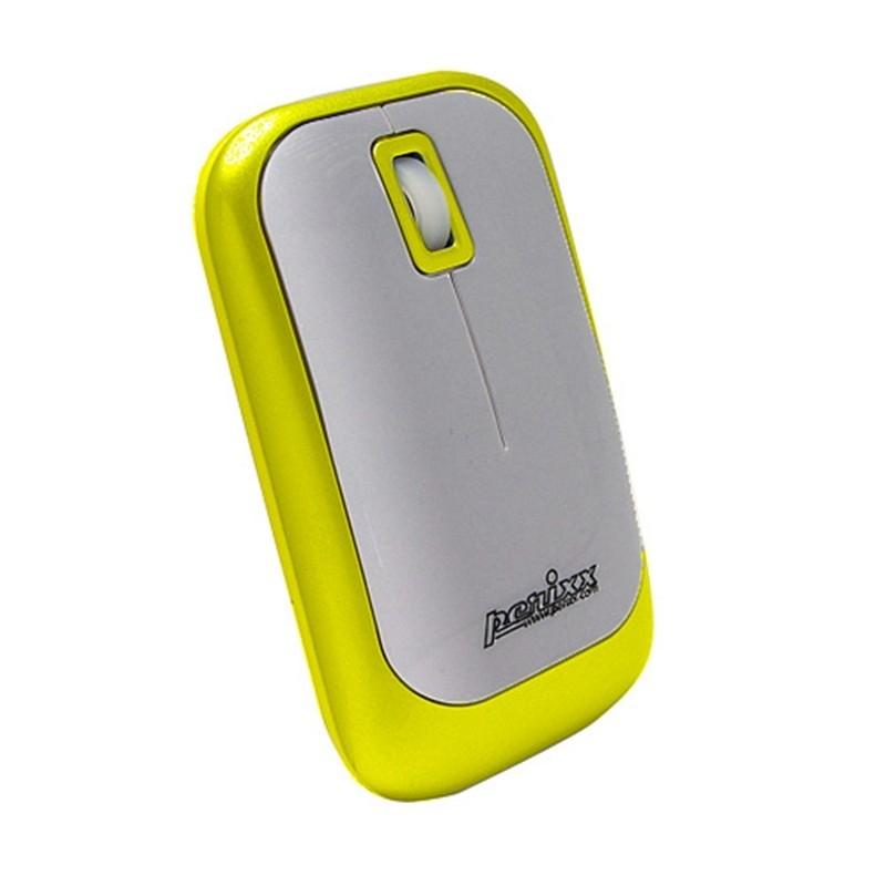 PERIMICE-706 Ratón wireless  Amarillo y Plata. Lateral