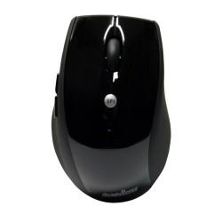 PERIMICE-707 Ratón Wireless. Negro brillo/mate. Vista frontal