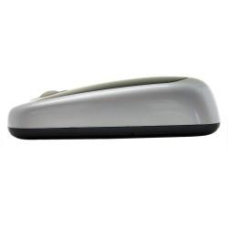 PERIMICE-708 Ratón Wireless. Negro piano/plata. Detalle perfil