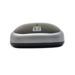 PERIMICE-708 Ratón Wireless. Negro piano/plata. Detalle botones + Scroll