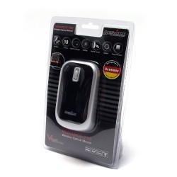PERIMICE-708 Ratón Wireless. Negro piano/plata. Embalaje