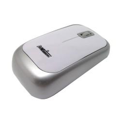 """PERIMICE-708 Ratón Wireless. Blanco brillo y plata. Detalle """"talón"""""""