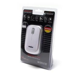 PERIMICE-708 Ratón Wireless. Blanco brillo y plata. Embalaje