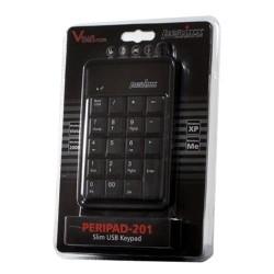 PERIPAD-201 Teclado Numérico Negro. Embalaje