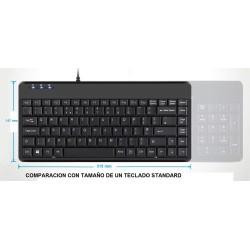 PERIBOARD-409. Teclado  reducido, comparativa con teclado standadr.