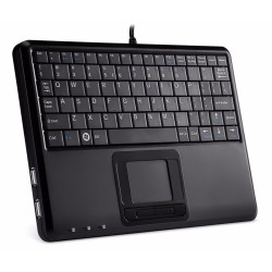 PERIBOARD-510. Teclado con Touchpad incorporado. Lateral derecho