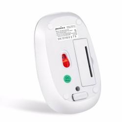 PERIDUO-712 Blanco. Wireless.  Detalle reverso ratón