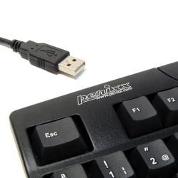 PERIDUO-206 Negro. Teclado, detalle conexión USB